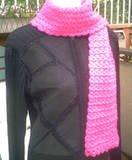 Handmade Hot Pink Shimmer Crochet FASHIONABLE SCARF