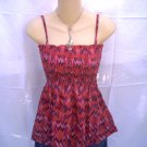 H&M DIVIDED A-Line Pink/Red Tube Top Blouse Large Size 12 L