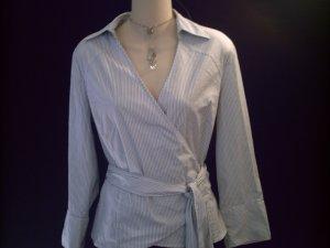 EAST 5th Grey Pin Stripe Wrap Knit Top Size 8