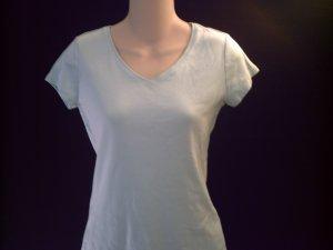 ANN TAYLOR Pale Blue V-Neck Knit Top Size Small S