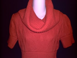 FRENCH CONNECTION Orange Sweater w/ Boat Neck Collar Size L