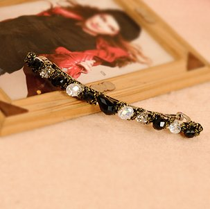 Hit color colorful headdress hairpin crystal gold wire