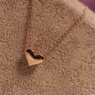 Short gold necklace love necklace