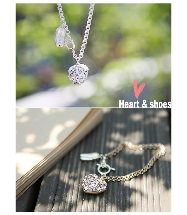 Full diamond bracelet Korean love ballet shoes