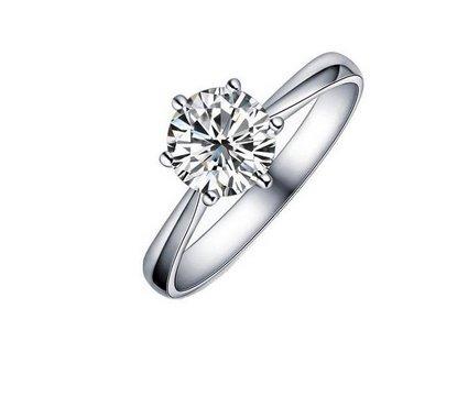 Plating really platinum diamond ring Size 14