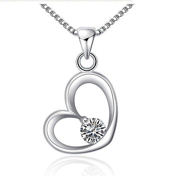 Heart plating really platinum color crystal pendant Swiss Diamond Crystal
