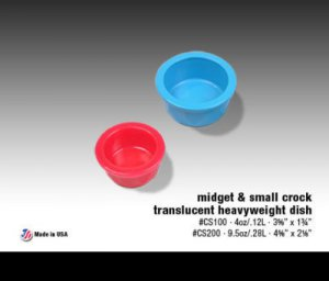 Van Ness Crock Heavyweight® Dish CS2 9.5oz Small Yellow