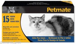 Petmate Litter Pan Liner Medium 15 Pack