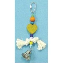 Bird Brianers Bird Toy w/ Rope Beads, Red Heart & Bell