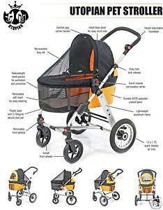 Utopian Pet FOUR Wheel Pet Stroller (Color  Olive)