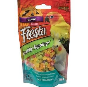 Kaytee Fiesta Healthy Toppings Papaya Treats for all Birds 2.5oz