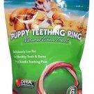 N-Bone Puppy Teething Ring Natural Chew Treat-Pumpkin Flavor 6 pack