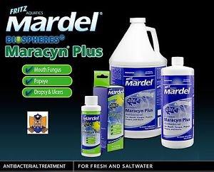 Fritz Aquatics Mardel Maracyn Plus 8FL  OZ (236 ML) Treats 236 Gallons