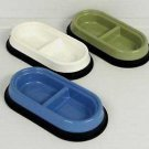 JW Pet Skid Stop Basic Double Pet Bowl Small Random Colors