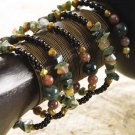 Indian Agate Coil bracelet