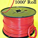 #10 GAUGE AWG WIRE 1000 FT ROLL RED CABLE POWER GROUND STRANDED COPPER PRIMARY