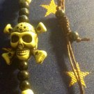 Green Skull and Crossbones Bracelet