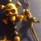 Brown Skull and Crossbones Bracelet