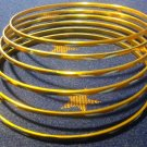 Small Yellow Frosted Aluminum Bracelet