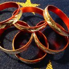 Red aluminum Ring Size 6.5