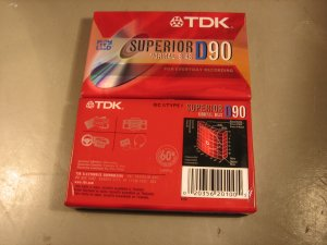TDK Blank Audio Cassette Tapes (2 pack)- 90 minute - Type I