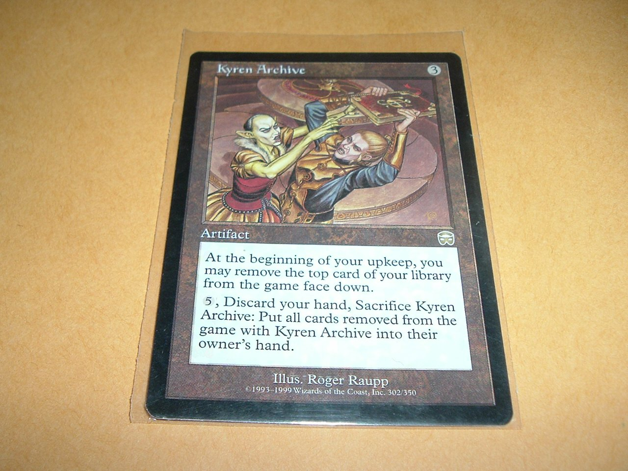 Kyren Archive (Magic MTG: Mercadian Masques Card #302) UNPLAYED Artifact RARE, for sale