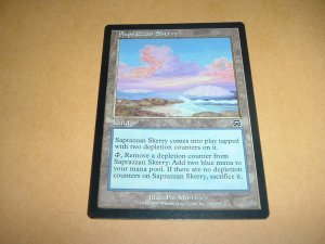 Saprazzan Skerry (Magic MTG: Mercadian Masques Card #328) Land Common, for sale