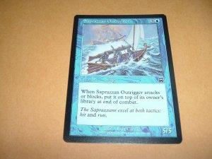 Saprazzan Outrigger (Magic MTG: Mercadian Masques Card #101) Blue Common, for sale