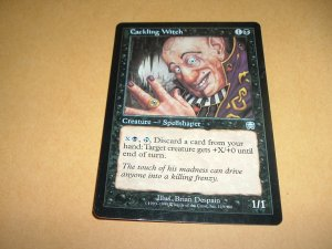 Cackling Witch (Magic MTG: Mercadian Masques Card #119) UNPLAYED Black Uncommon, for sale