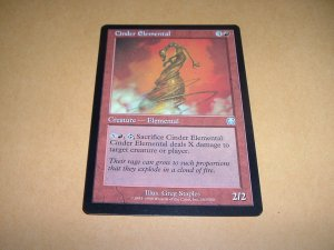 Cinder Elemental (Magic MTG: Mercadian Masques Card #183) UNPLAYED Red Uncommon, for sale