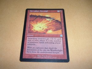 Mercadia's Downfall (Magic MTG: Mercadian Masques Card #205) UNPLAYED Red Uncommon, for sale