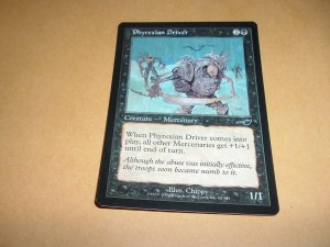 Phyrexian Driver (Magic, The Gathering MTG: Nemesis Card #64) Black Common, for sale
