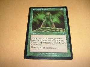 Reverent Silence (Magic, The Gathering MTG: Nemesis Card #111) Green Common, for sale