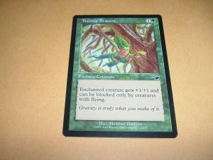 Treetop Bracers (Magic, The Gathering MTG: Nemesis Card #123) Green Common, for sale