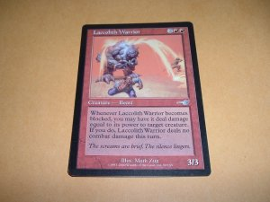 Laccolith Warrior (Magic, The Gathering MTG: Nemesis Card #90) UNPLAYED Red Uncommon, for sale