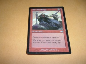 Flowstone Surge (Magic, The Gathering MTG: Nemesis Card #85) UNPLAYED Red Uncommon, for sale