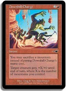 Downhill Charge, GREAT INSTANT (Magic, The Gathering MTG: Nemesis Card #79) Red Common, for sale
