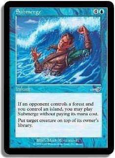 Submerge UNPLAYED NR MINT/MINT (Magic, The Gathering MTG: Nemesis Card #48) Blue Uncommon, for sale