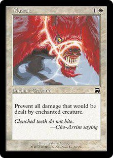Muzzle (Magic MTG: Mercadian Masques Card #30) White Common, for sale