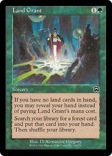 Land Grant, MINT UNPLAYED (Magic MTG: Mercadian Masques Card #255) Green. very wanted, for sale