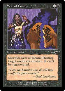Seal of Doom (Magic, The Gathering MTG: Nemesis Card #70) Black Common, for sale