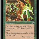 Seal of Strength (Magic, The Gathering MTG: Nemesis Card #115) Green Common, for sale, Giant Growth