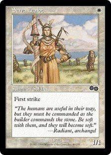 Serra Zealot (Magic MTG: Urza's Saga Card #46) White Common, for sale