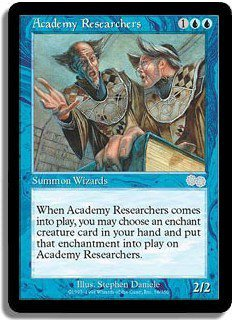 Academy Researchers - MINT (Magic MTG: Urza's Saga Card #58) UNPLAYED Blue Uncommon, for sale