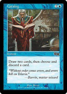 Catalog (Magic MTG: Urza's Saga Card #64) Blue Common, for sale