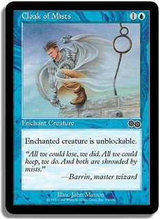 Cloak of Mists (Magic MTG: Urza's Saga Card #65) Blue Common, for sale