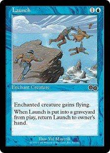 Launch (Magic MTG: Urza's Saga Card #82) Blue Common, for sale