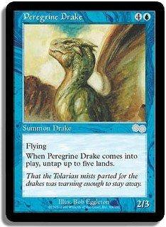 Peregrine Drake - MINT (Magic MTG: Urza's Saga Card #88) UNPLAYED Blue Uncommon, for sale