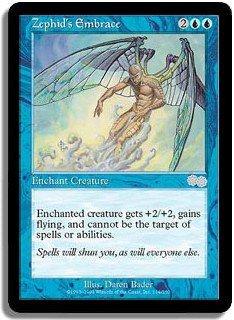 Zephid's Embrace (Magic MTG: Urza's Saga Card #114) Blue Uncommon, for sale