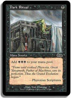 Dark Ritual - NR MINT (Magic MTG: Urza's Saga Card #127) UNPLAYED Black very powerful card, for sale
